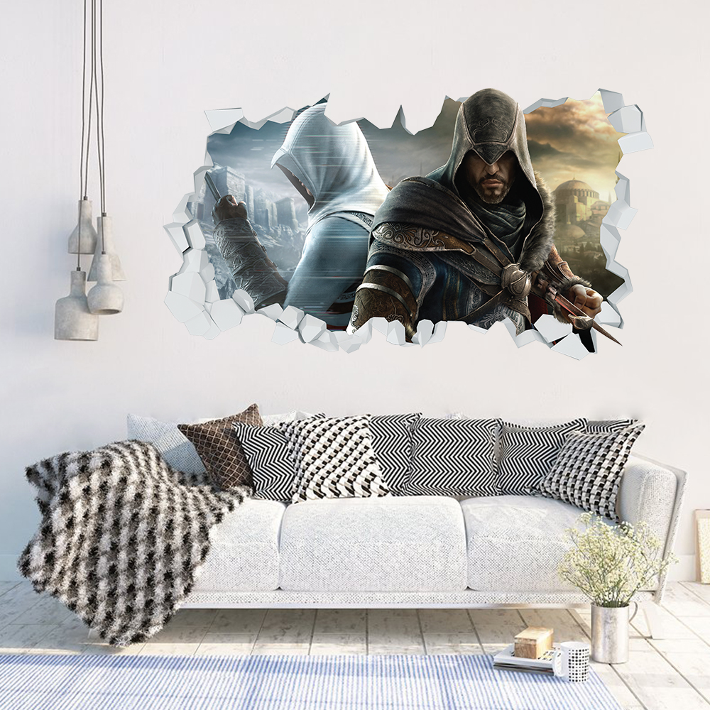 Adesivo Murale 3D - Assassin's Creed