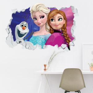 Adesivo Murale 3D ~ Frozen