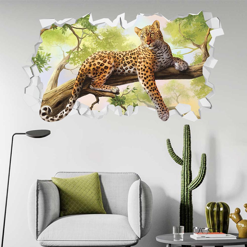 Adesivo Murale 3D Leopardo