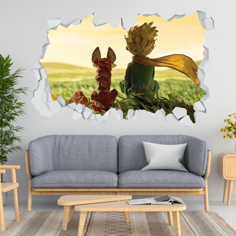 Adesivo Murale 3D Piccolo Principe