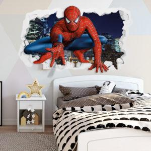 Adesivo Murale 3D ~ Spider-Man