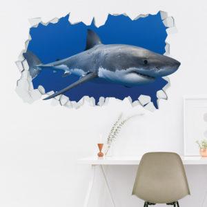 Adesivo Murale 3D ~ Squalo