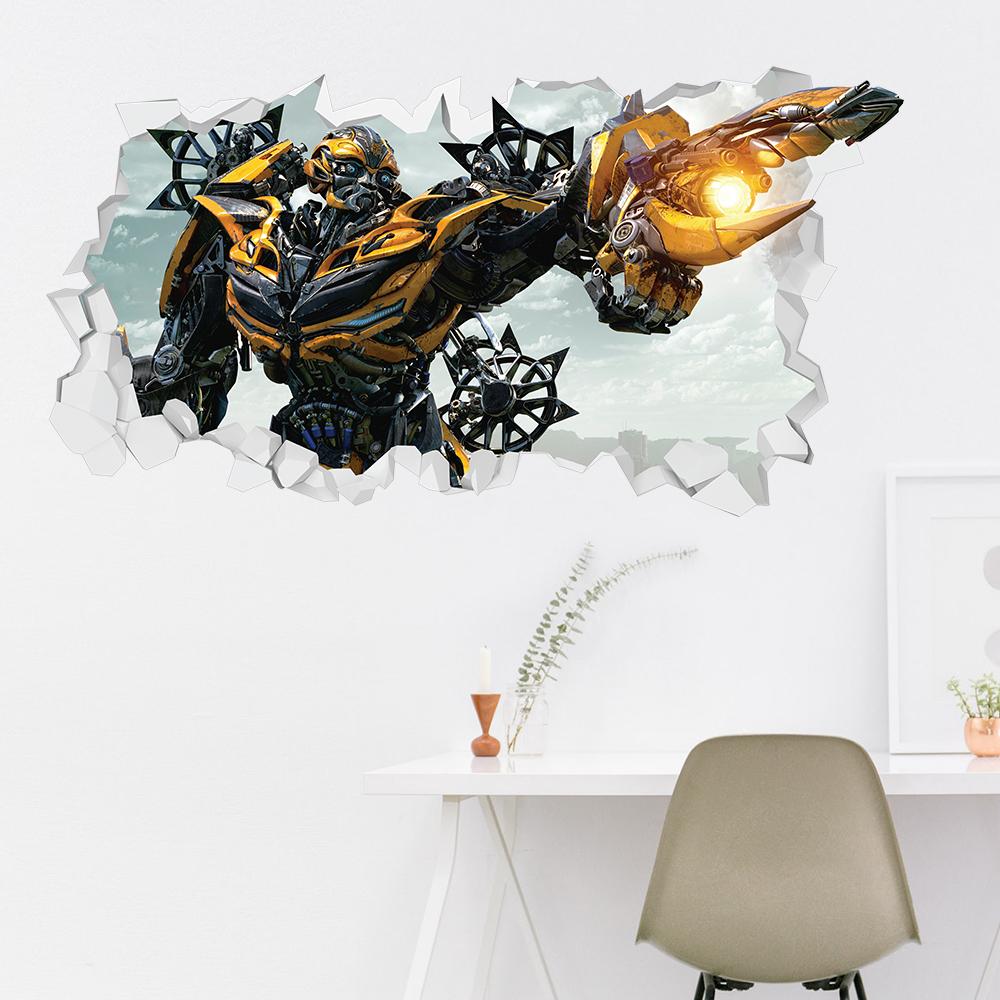 Adesivo Murale 3D Transformers