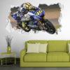 Adesivo Murale 3D Valentino Rossi