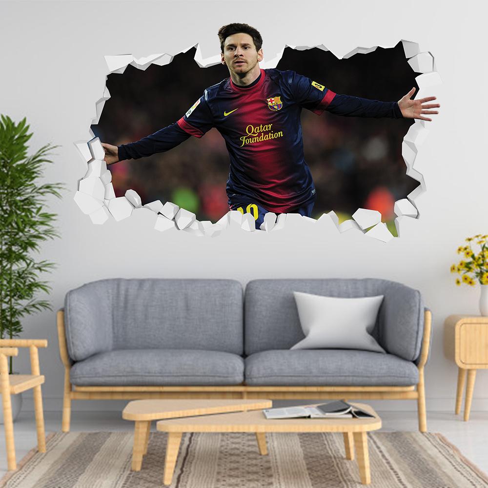 Adesivo 3D Messi