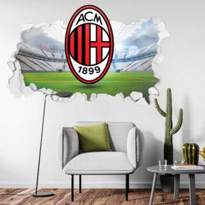 Adesivo 3D ~ Scudetto Milan