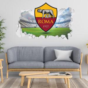 Adesivo 3D ~ Scudetto Roma